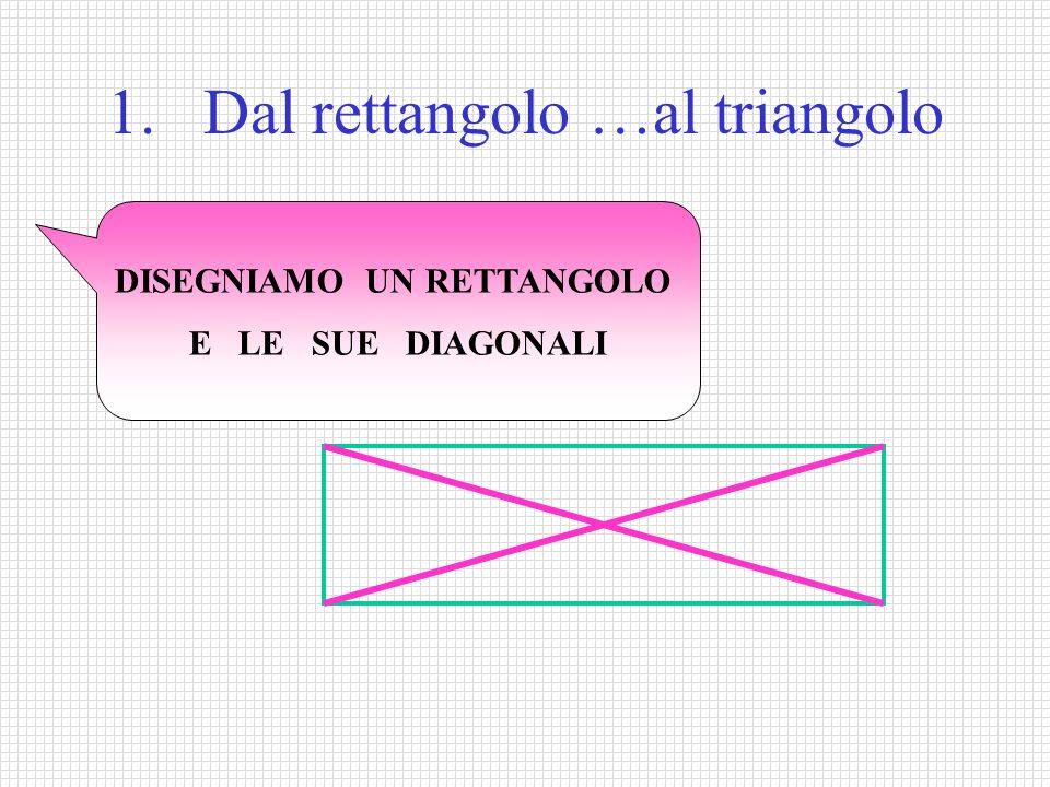 1. Dal rettangolo …al triangolo
