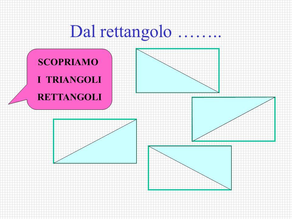 Dal rettangolo …….. SCOPRIAMO I TRIANGOLI RETTANGOLI