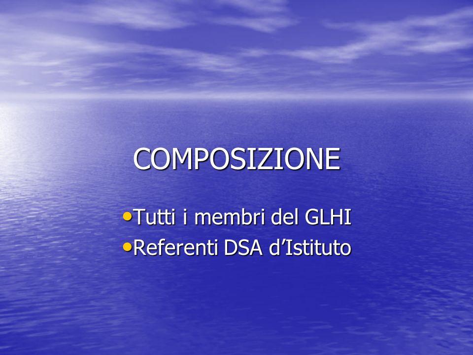 Tutti i membri del GLHI Referenti DSA d'Istituto