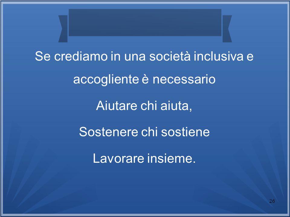 Se crediamo in una società inclusiva e accogliente è necessario