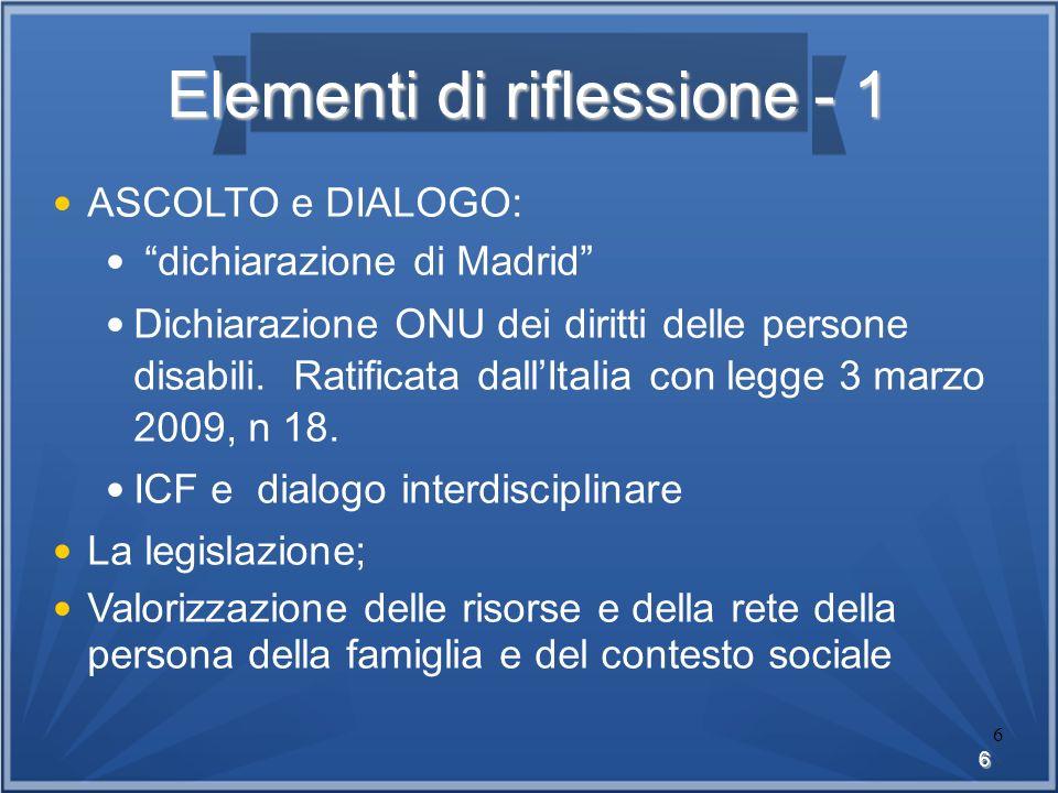 Elementi di riflessione - 1