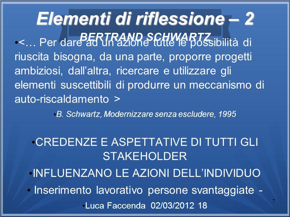 Elementi di riflessione – 2 BERTRAND SCHWARTZ