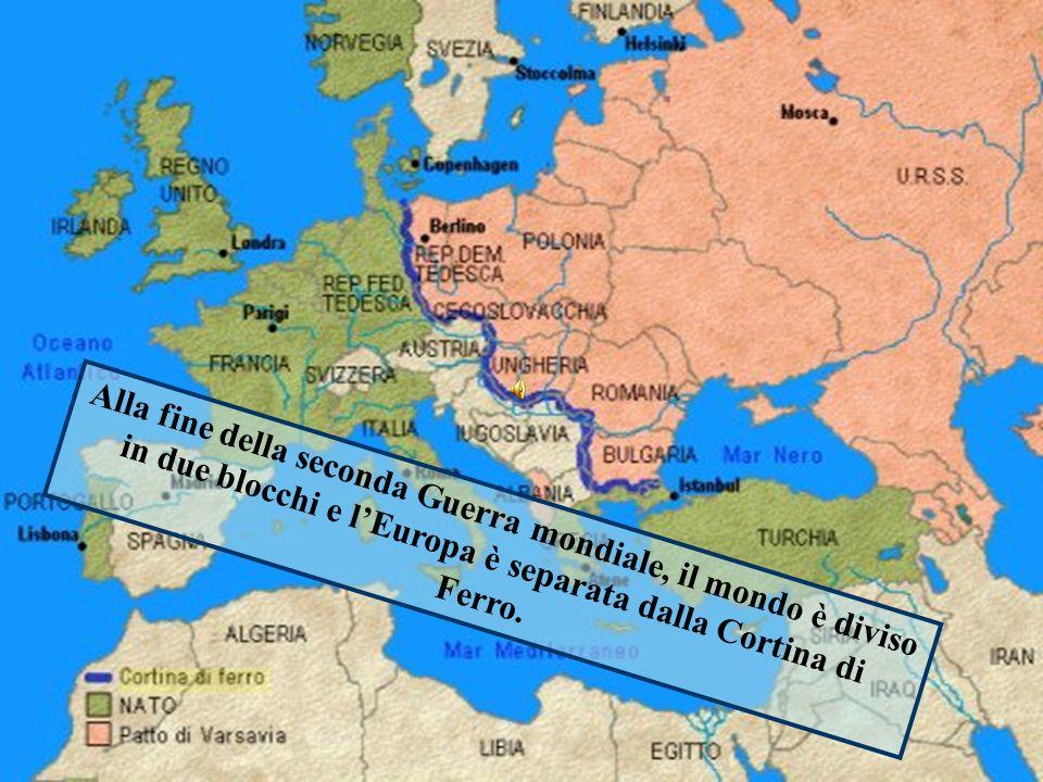 Alla fine della seconda Guerra mondiale, il mondo è diviso in due blocchi e l'Europa è separata dalla Cortina di Ferro.