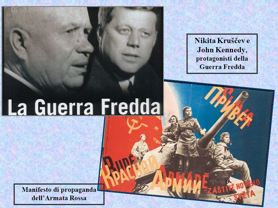 Nikita Kruščev e John Kennedy, protagonisti della Guerra Fredda