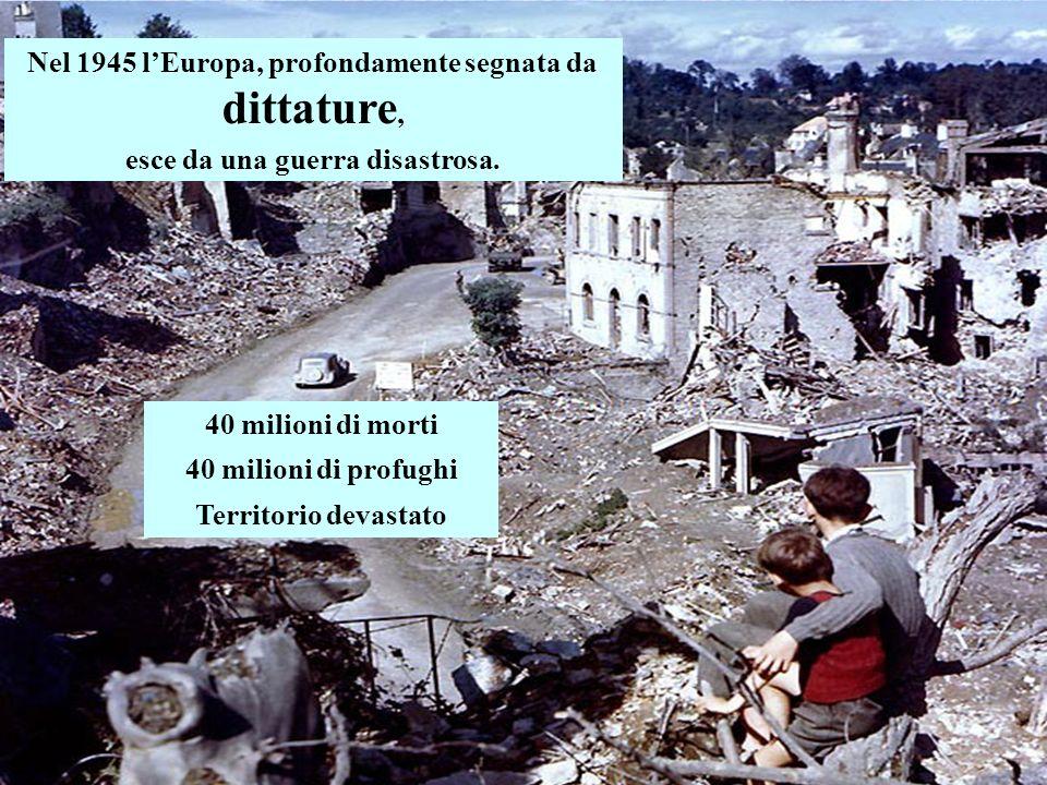 Nel 1945 l'Europa, profondamente segnata da dittature,