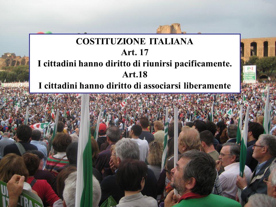 COSTITUZIONE ITALIANA Art. 17