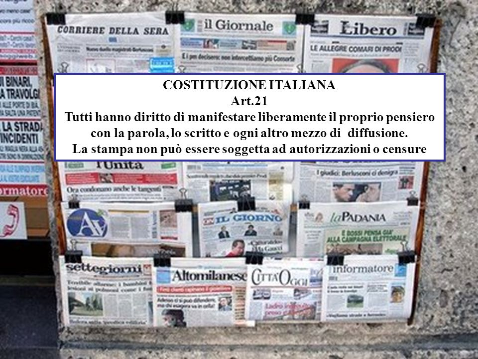 COSTITUZIONE ITALIANA Art.21