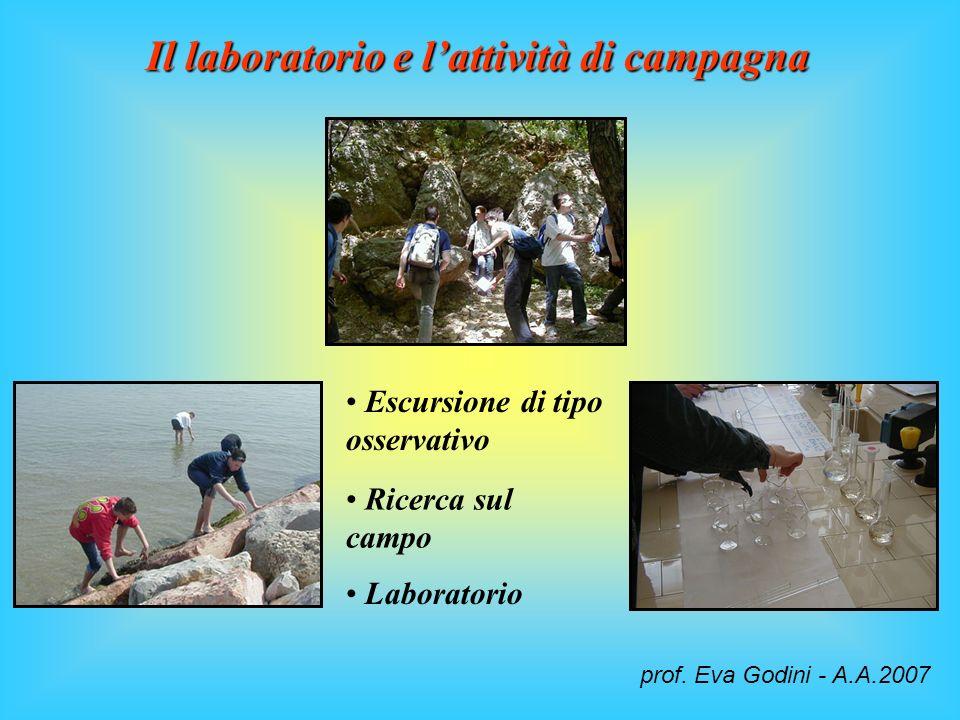 Il laboratorio e l'attività di campagna