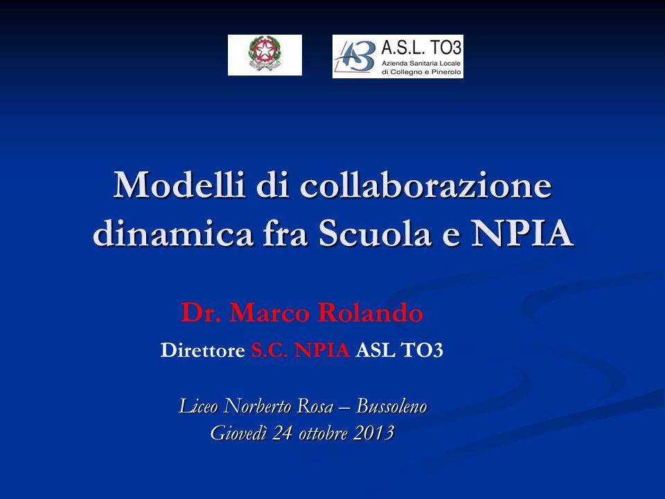 Modelli di collaborazione dinamica fra Scuola e NPIA