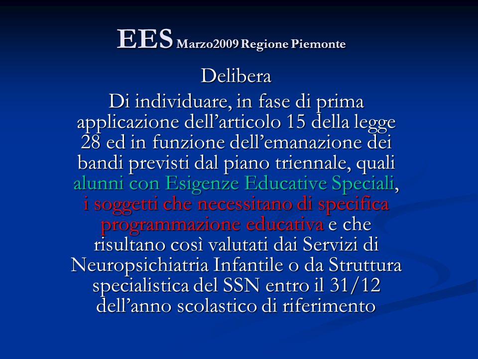 EES Marzo2009 Regione Piemonte