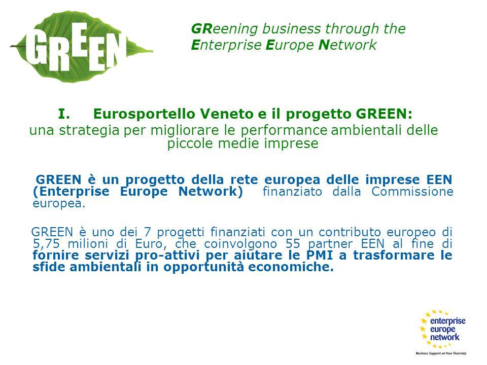 I. Eurosportello Veneto e il progetto GREEN: