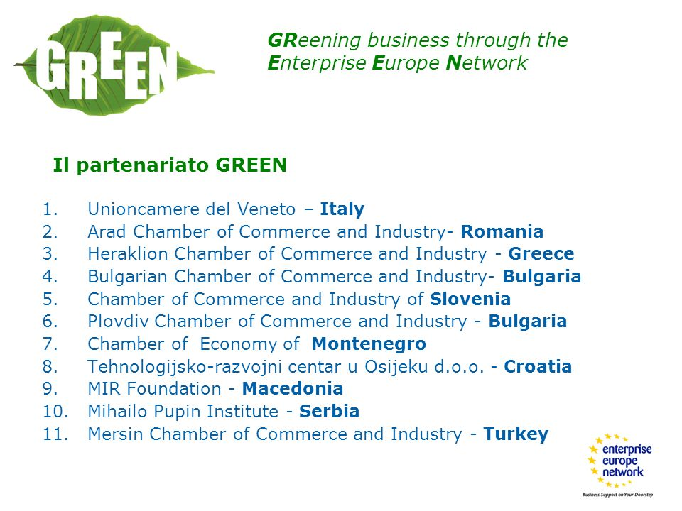 GReening business through the Enterprise Europe Network