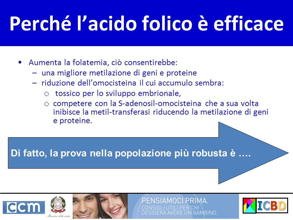 Perché l'acido folico è efficace