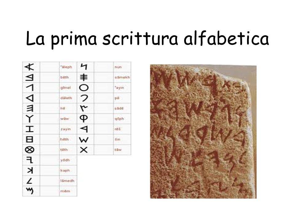 La prima scrittura alfabetica
