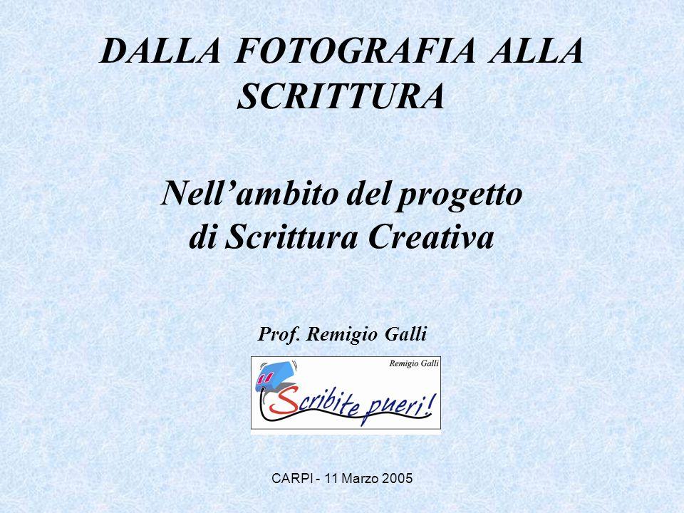 DALLA FOTOGRAFIA ALLA SCRITTURA