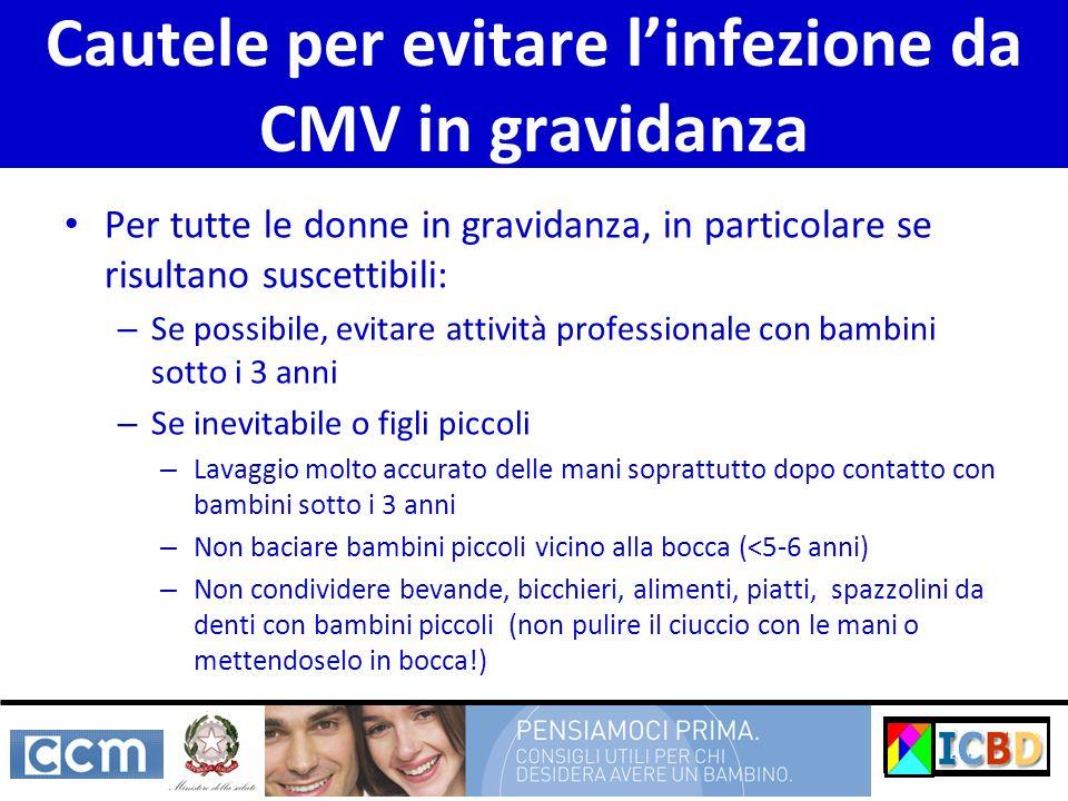 Cautele per evitare l'infezione da CMV in gravidanza