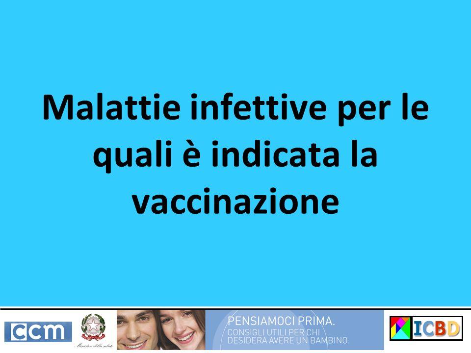 Malattie infettive per le quali è indicata la vaccinazione