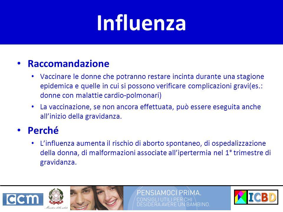 Influenza Raccomandazione Perché