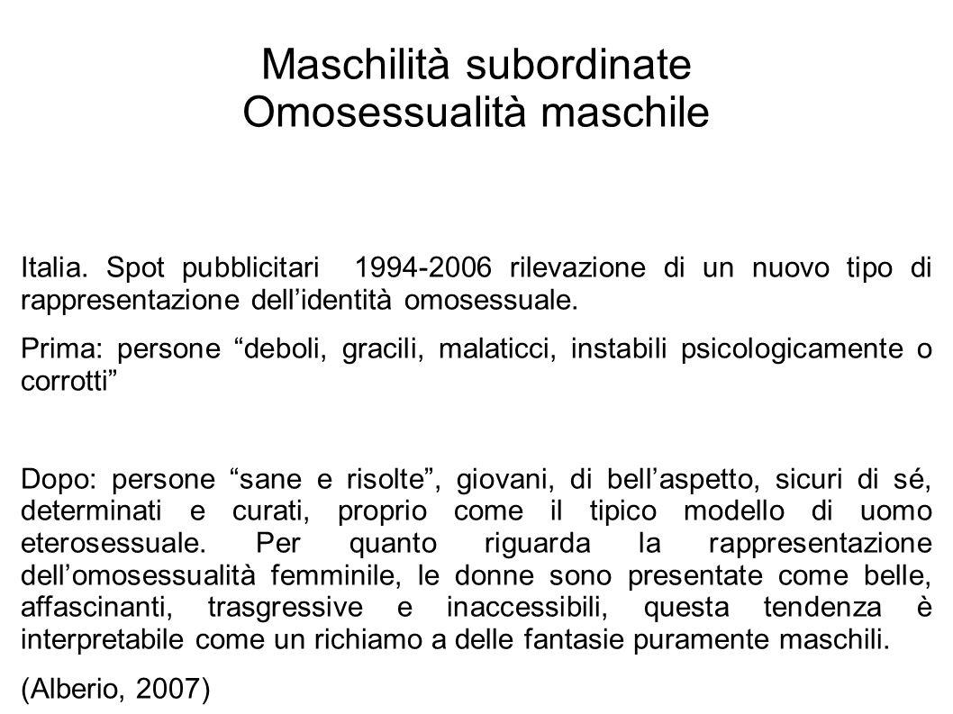 Maschilità subordinate Omosessualità maschile