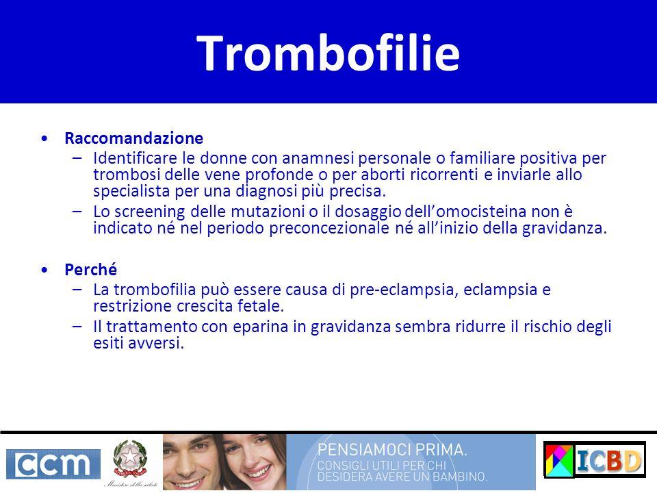 Trombofilie Raccomandazione
