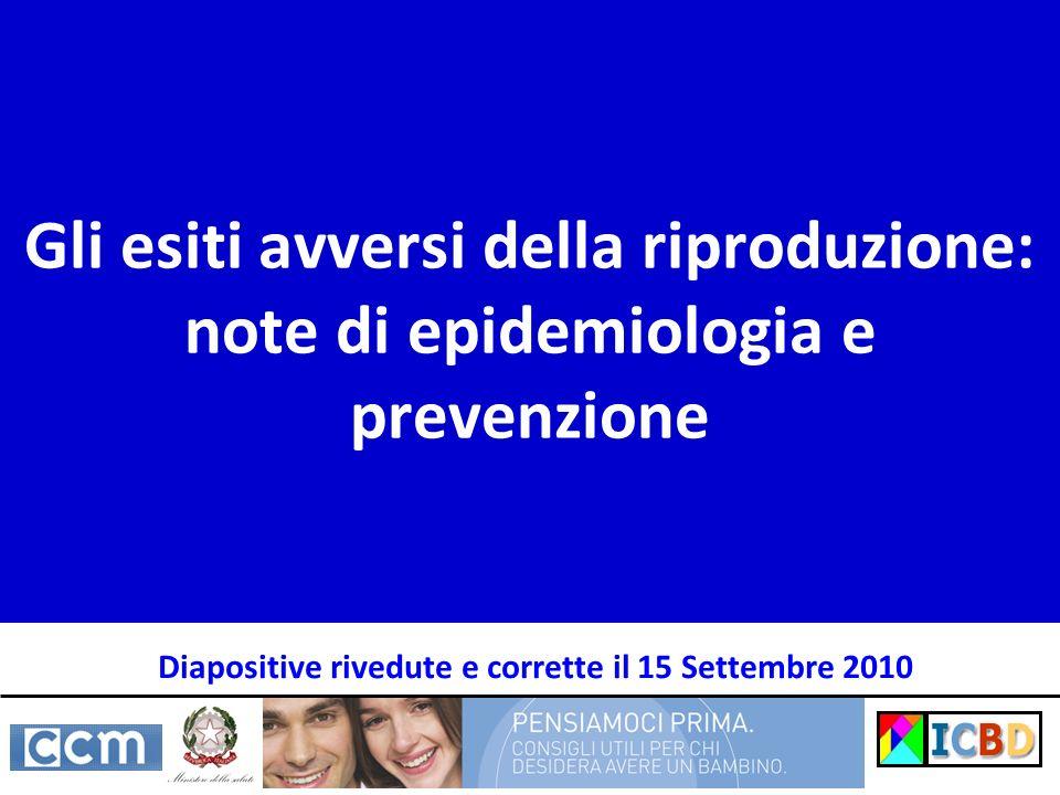 Diapositive rivedute e corrette il 15 Settembre 2010