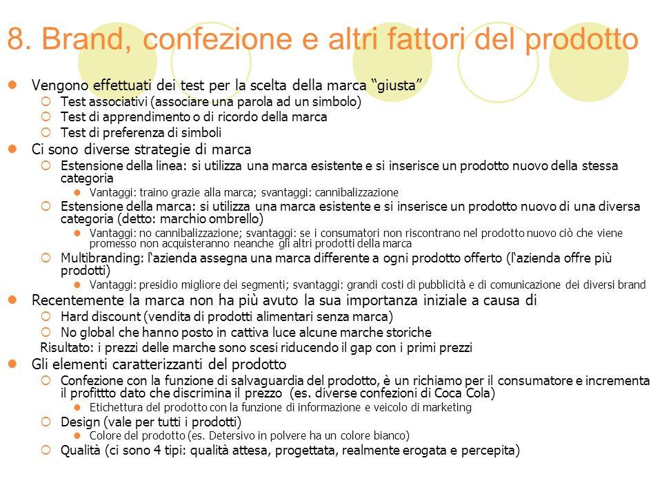 8. Brand, confezione e altri fattori del prodotto