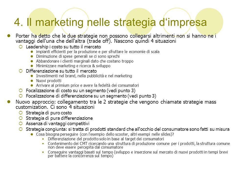 4. Il marketing nelle strategia d'impresa