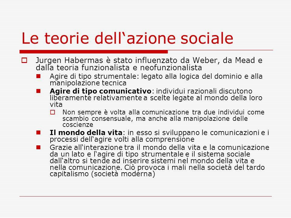 Le teorie dell'azione sociale