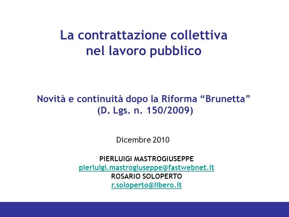 La contrattazione collettiva nel lavoro pubblico