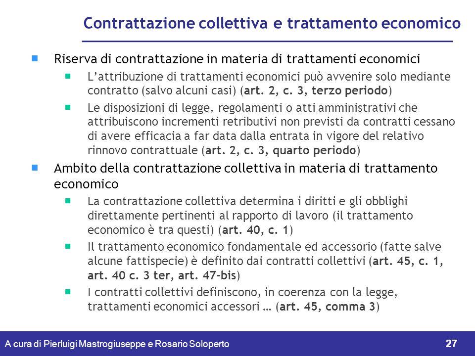 Contrattazione collettiva e trattamento economico