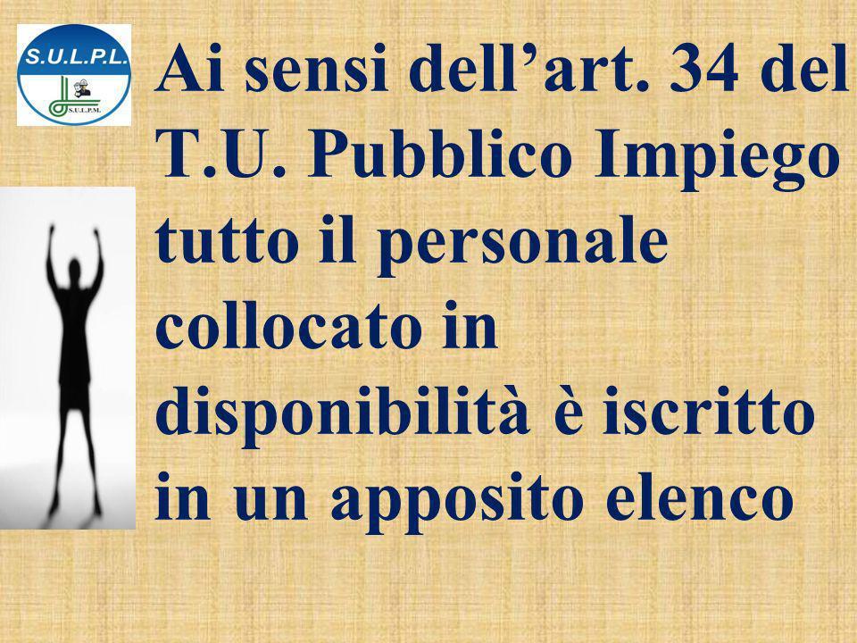 Ai sensi dell'art. 34 del T. U