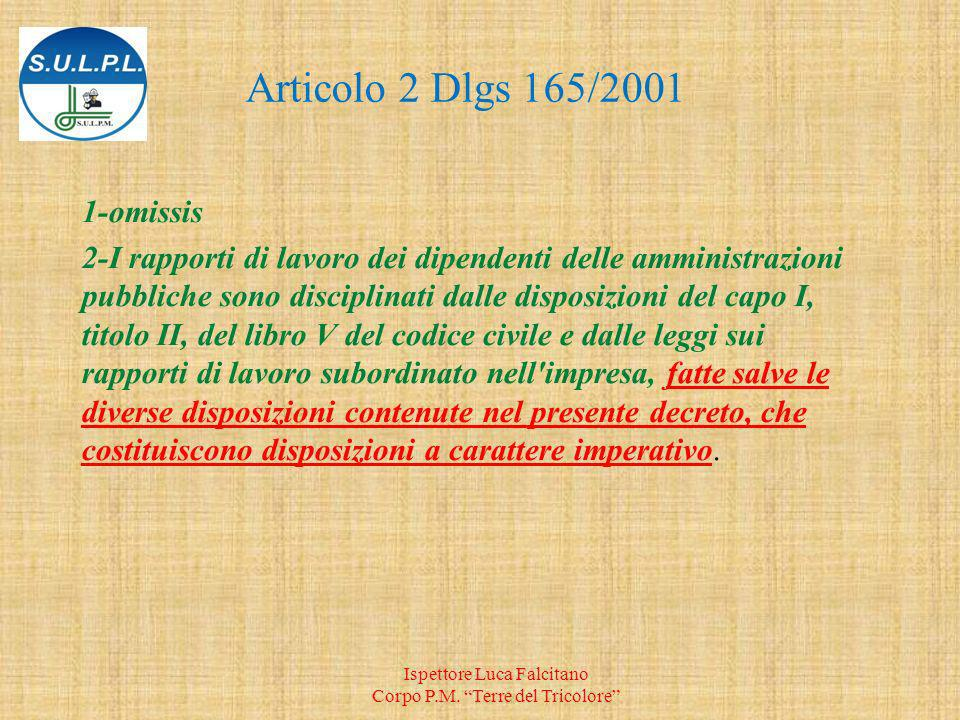 Articolo 2 Dlgs 165/ omissis