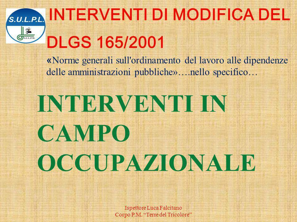INTERVENTI IN CAMPO OCCUPAZIONALE