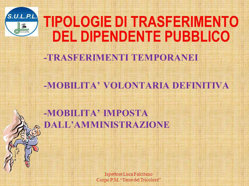 TIPOLOGIE DI TRASFERIMENTO DEL DIPENDENTE PUBBLICO