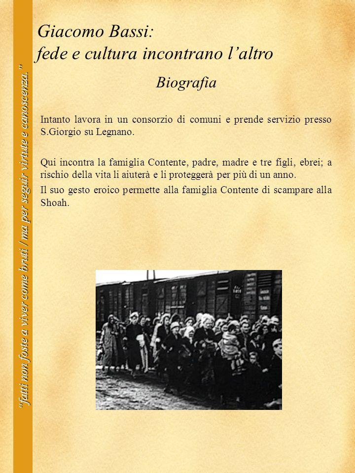 BiografiaIntanto lavora in un consorzio di comuni e prende servizio presso S.Giorgio su Legnano.