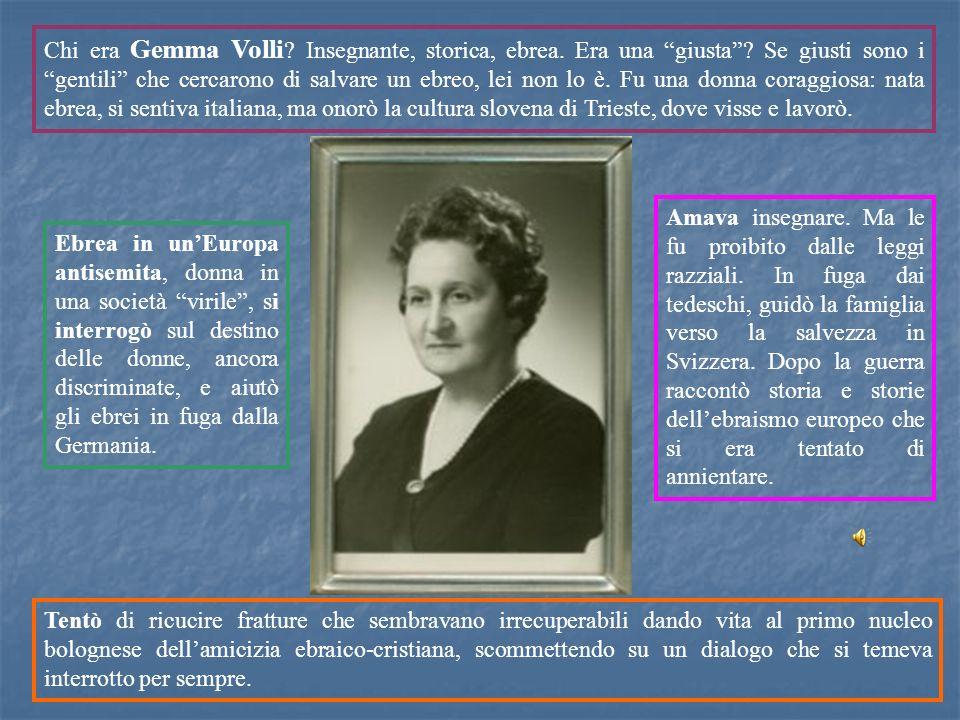 Chi era Gemma Volli. Insegnante, storica, ebrea. Era una giusta