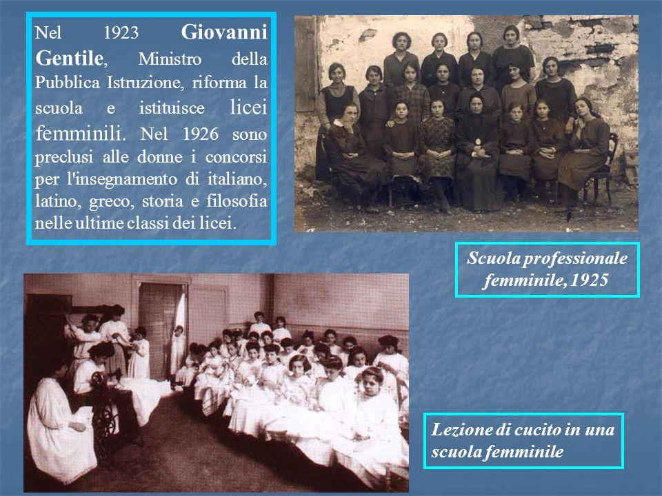 Scuola professionale femminile, 1925