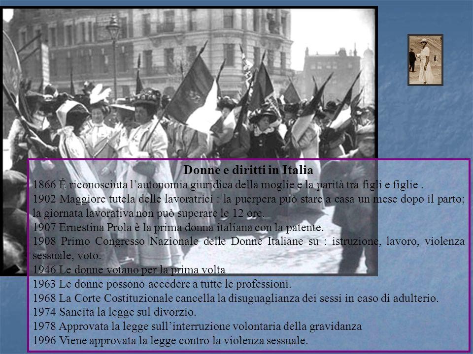 Donne e diritti in Italia