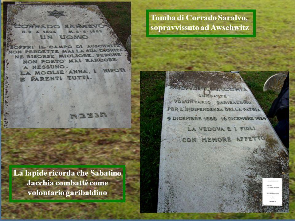 Tomba di Corrado Saralvo, sopravvissuto ad Awschwitz