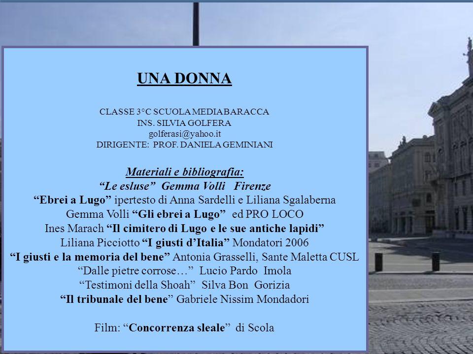 Materiali e bibliografia: Le esluse Gemma Volli Firenze