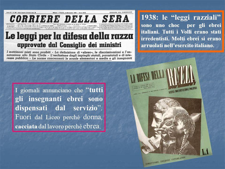 1938: le leggi razziali sono uno choc per gli ebrei italiani