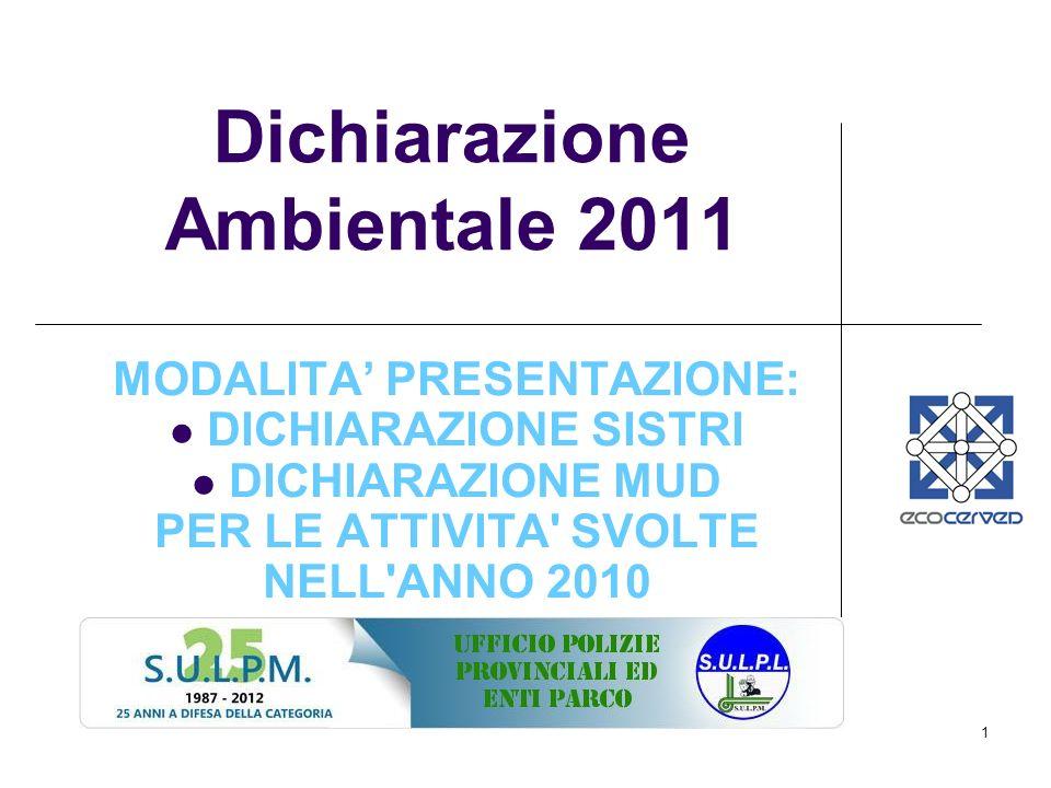Dichiarazione Ambientale 2011
