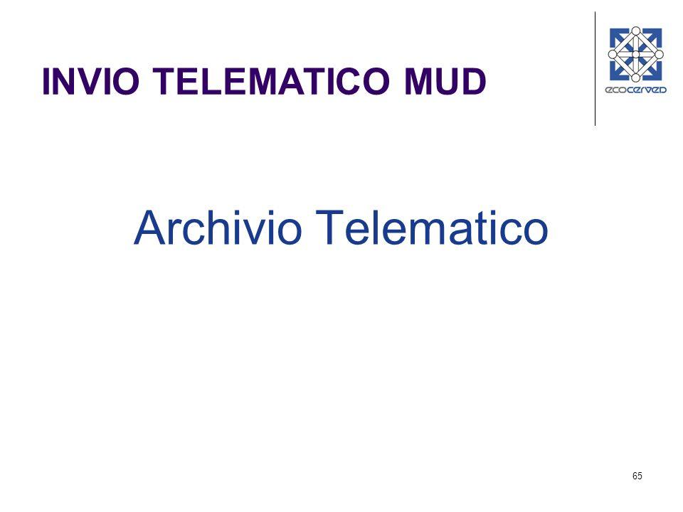 INVIO TELEMATICO MUD Archivio Telematico