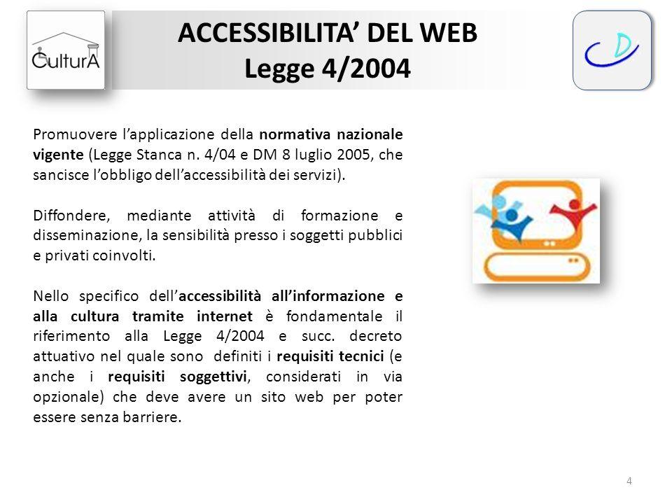 ACCESSIBILITA' DEL WEB