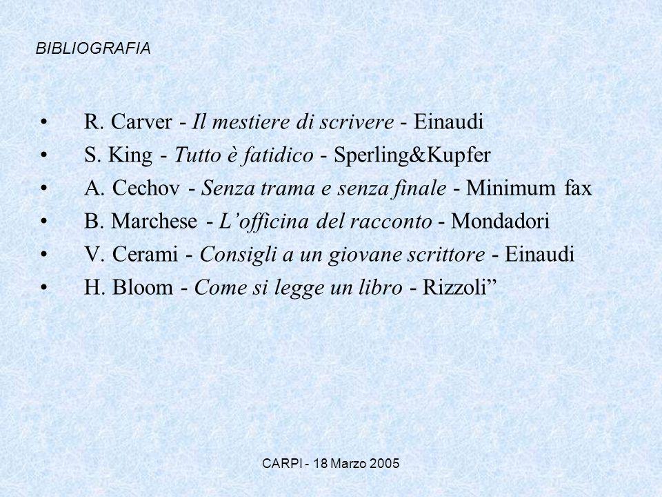 R. Carver - Il mestiere di scrivere - Einaudi