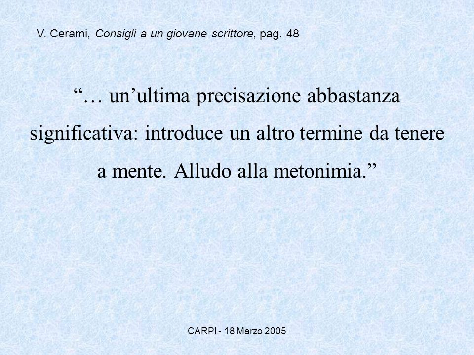 V. Cerami, Consigli a un giovane scrittore, pag. 48