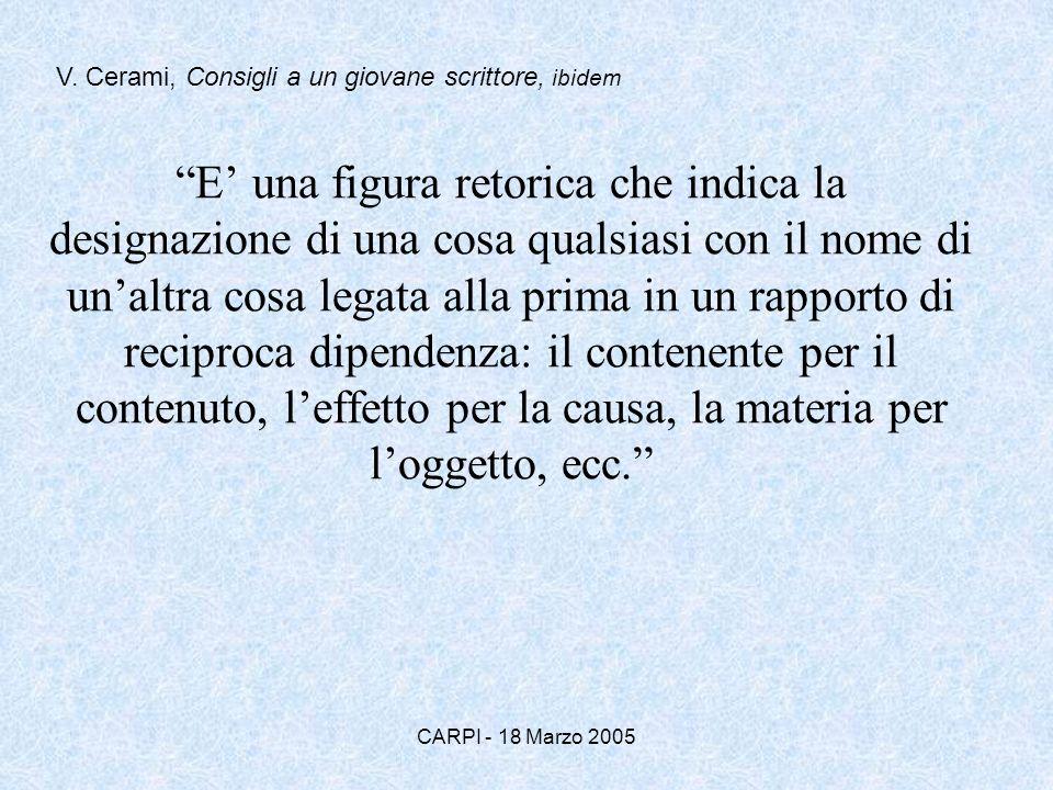 V. Cerami, Consigli a un giovane scrittore, ibidem