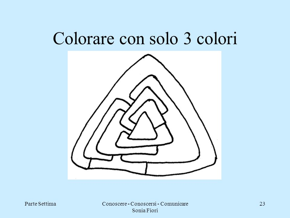 Colorare con solo 3 colori