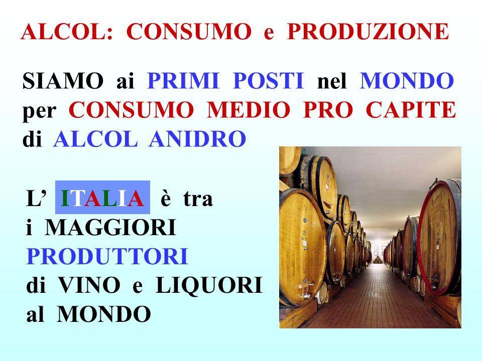 ALCOL: CONSUMO e PRODUZIONE