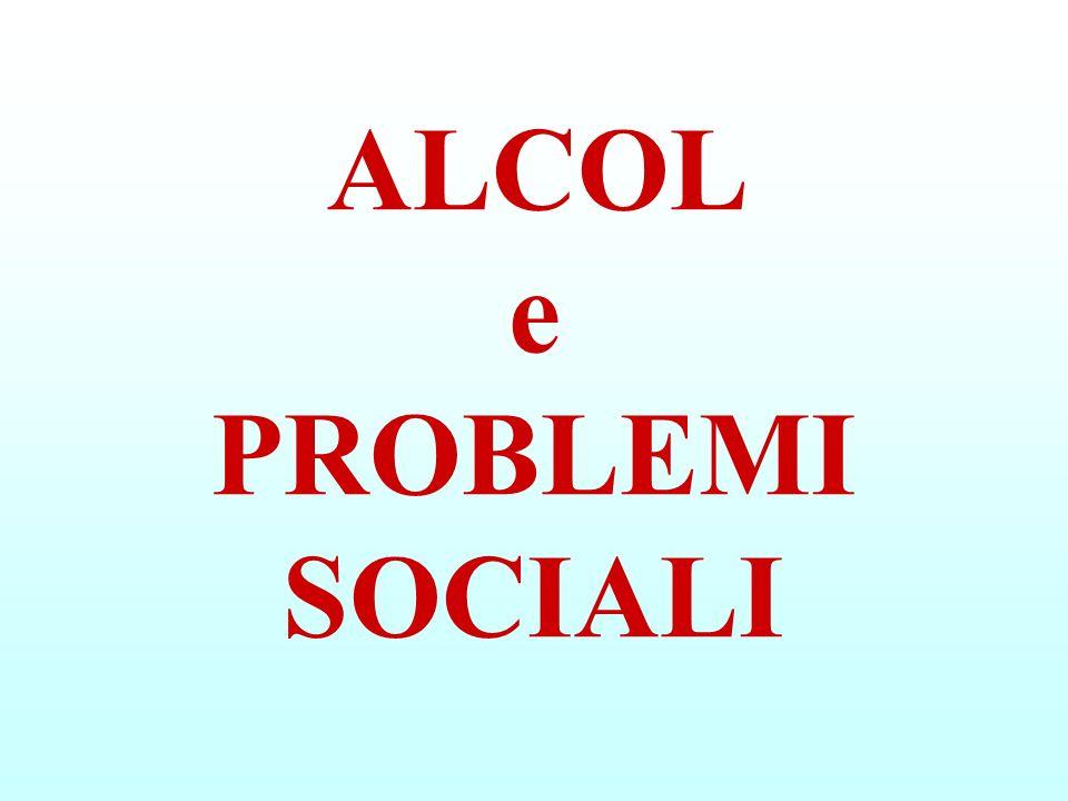 ALCOL e PROBLEMI SOCIALI